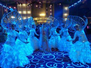 White Dancers Bride Entry