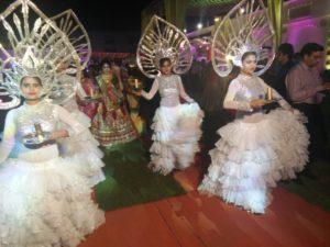 White Gold Entry Wedding Theme