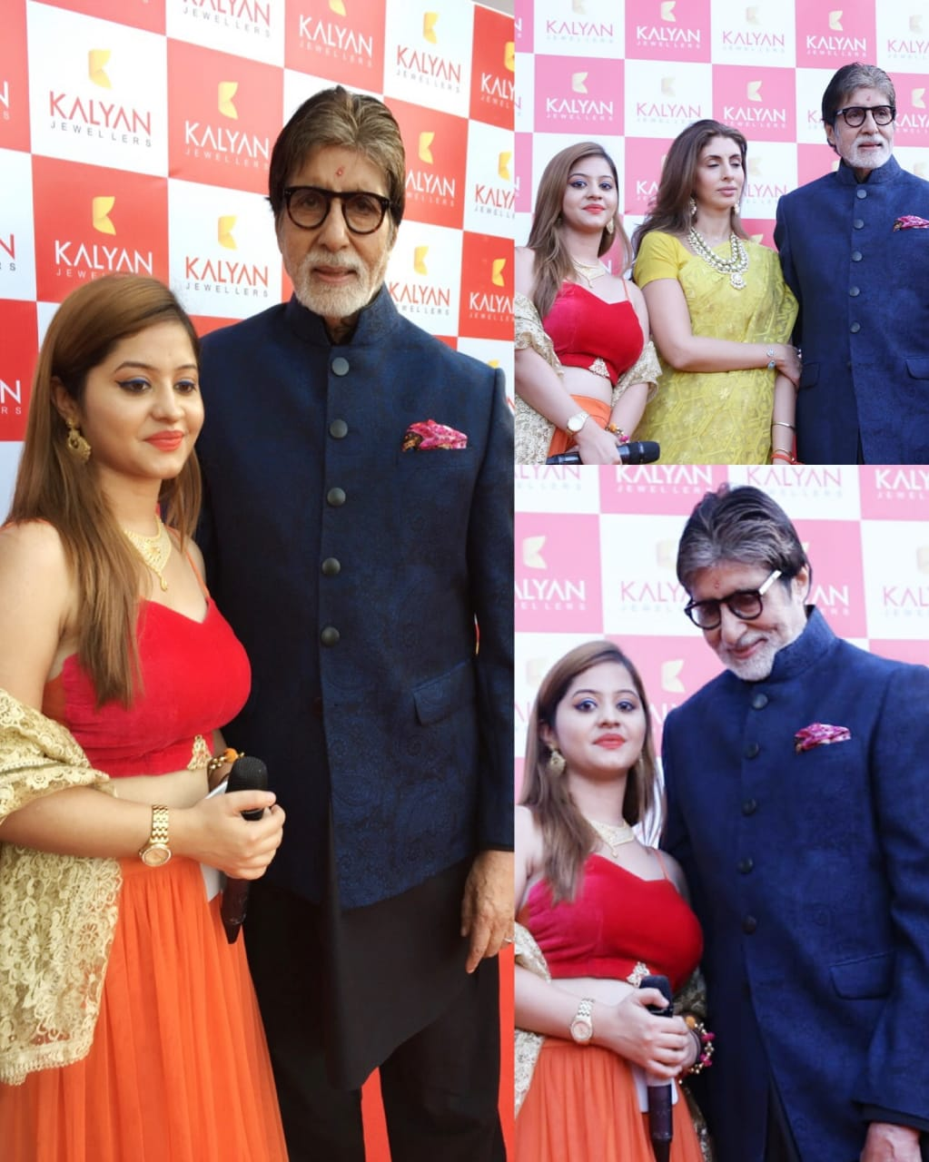 Ruchi with Amitabh Bachchan-Neer Event Management